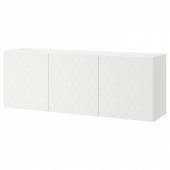 БЕСТО Комбинация настенных шкафов, белый, вассвикен белый, 180x42x64 см