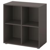 ЭКЕТ Комбинация шкафов с ножками, темно-серый, 70x35x72 см