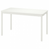 ТОММАРЮД Стол, белый, 130x70 см