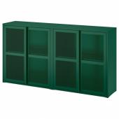 ИВАР Шкаф с дверями, зеленый сетка, 160x30x83 см