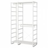 ЭЛВАРЛИ 2 секции, белый, 125x55x216 см