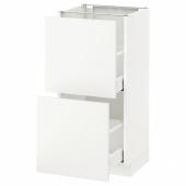 МЕТОД / МАКСИМЕРА Напольный шкаф с 2 ящиками, белый, Хэггеби белый, 40x37 см