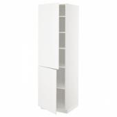 МЕТОД Высокий шкаф с полками/2 дверцы, белый, Веддинге белый, 60x60x200 см