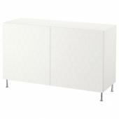 БЕСТО Комбинация для хранения с дверцами, белый, вассвик/сталларп белый, 120x40x74 см