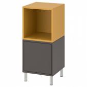 ЭКЕТ Комбинация шкафов с ножками, темно-серый, золотисто-коричневый, 35x35x80 см