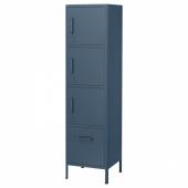 ИДОСЕН Высокий шкаф с электронным замком, синий, 45x172 см