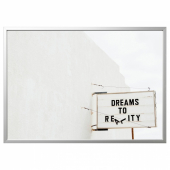 БЬЁРКСТА Картина с рамой, Dream, цвет алюминия, 140x100 см