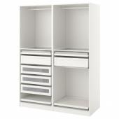 ПАКС Гардероб, комбинация, белый, 150x58x201 см