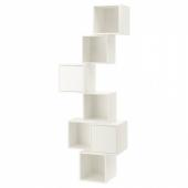 ЭКЕТ Комбинация настенных шкафов, белый, 80x35x210 см