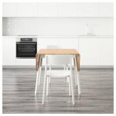 ИКЕА ПС 2012 / ЯН-ИНГЕ Стол и 4 стула, бамбук, белый, 138 см