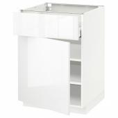 МЕТОД / МАКСИМЕРА Напольный шкаф с ящиком/дверью, белый, Рингульт белый, 60x60 см