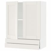 МЕТОД / МАКСИМЕРА Навесной шкаф/2дверцы/2ящика, белый, Сэведаль белый, 80x100 см