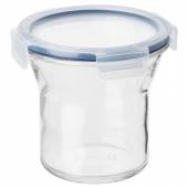 ИКЕА/365+ Банка с крышкой, стекло, пластик, 1.0 л