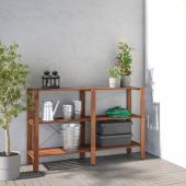 ТУРД Стеллаж, д/сада, коричневая морилка, 140x35x90 см