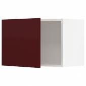 МЕТОД Шкаф навесной, белый Калларп, глянцевый темный красно-коричневый, 60x40 см
