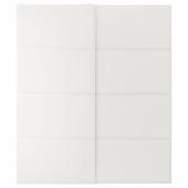 ТЬЁРХОМ Пара раздвижных дверей, белый, 200x236 см