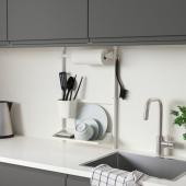 СУННЕРСТА Комплект кухонных аксессуаров, без сверления, держатель рулона/сушилка/контейнер держатель/сушилка/2 контейнера