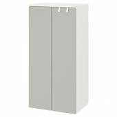 СМОСТАД / ОПХУС Гардероб, белый, серый, 60x40x123 см