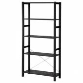ИВАР Стеллаж, черный, 89x30x179 см