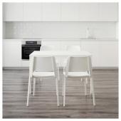 ВАНГСТА / ТЕОДОРЕС Стол и 4 стула, белый, белый, 120/180 см