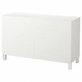 БЕСТО Комбинация для хранения с дверцами, белый, Лаппвикен белый, 120x40x74 см