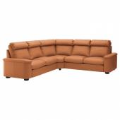 ЛИДГУЛЬТ Угловой диван-кровать, 5-местный, Гранн/Бумстад золотисто-коричневый