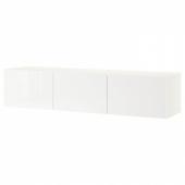 БЕСТО Тумба под ТВ, с дверцами, белый, Сельсвикен глянцевый/белый, 180x42x38 см