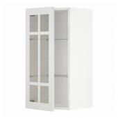 МЕТОД Навесной шкаф/полки/стеклян дверца, белый, Стенсунд белый, 40x80 см