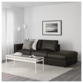 ВИМЛЕ 3-местный диван, с открытым торцом, Фарста черный