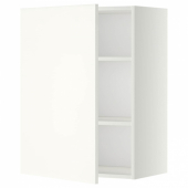 МЕТОД Шкаф навесной с полкой, белый, Хэггеби белый, 60x80 см