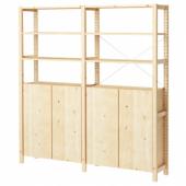 ИВАР 2 секции/полки/шкаф, сосна, 174x30x179 см