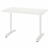 БЕКАНТ Письменный стол, белый, 120x80 см