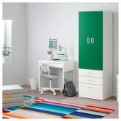 СТУВА / ФРИТИДС Шкаф платяной, белый, зеленый, 60x50x192 см