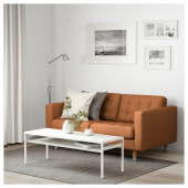 ЛАНДСКРУНА 2-местный диван, Гранн/Бумстад золотисто-коричневый/металл