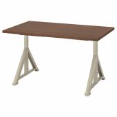 ИДОСЕН Письменный стол, коричневый, бежевый, 120x70 см