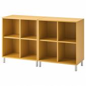 ЭКЕТ Комбинация шкафов с ножками, золотисто-коричневый, 140x35x80 см
