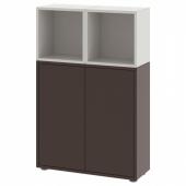 ЭКЕТ Комбинация шкафов с ножками, темно-серый, светло-серый, 70x25x107 см