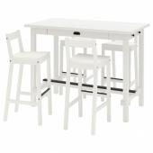 НОРДВИКЕН / НОРДВИКЕН Барн стол+4 барн стула, белый, белый