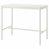 ТОММАРЮД Стол, белый, 130x70/105 см