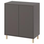 ЭКЕТ Комбинация шкафов с ножками, темно-серый, дерево, 70x35x80 см