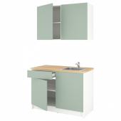 КНОКСХУЛЬТ Кухня, серо-зеленый, 120x61x220 см